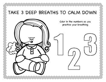Help Younger Children Practice Deep Breathing With This Coloring Sheet And Classroom Implementatio Conscious Discipline Play Therapy Resources Coloring Sheets