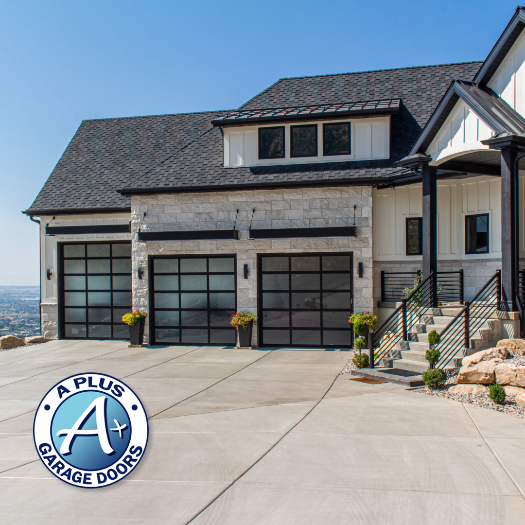 Glass garage doors are no doubt the higher end of garage door purchases. But if you are looking for a clean modern look to your home, this is the fit for you! Give us a call today for a free estimate #utahhomes #utah #garagedoorsutah