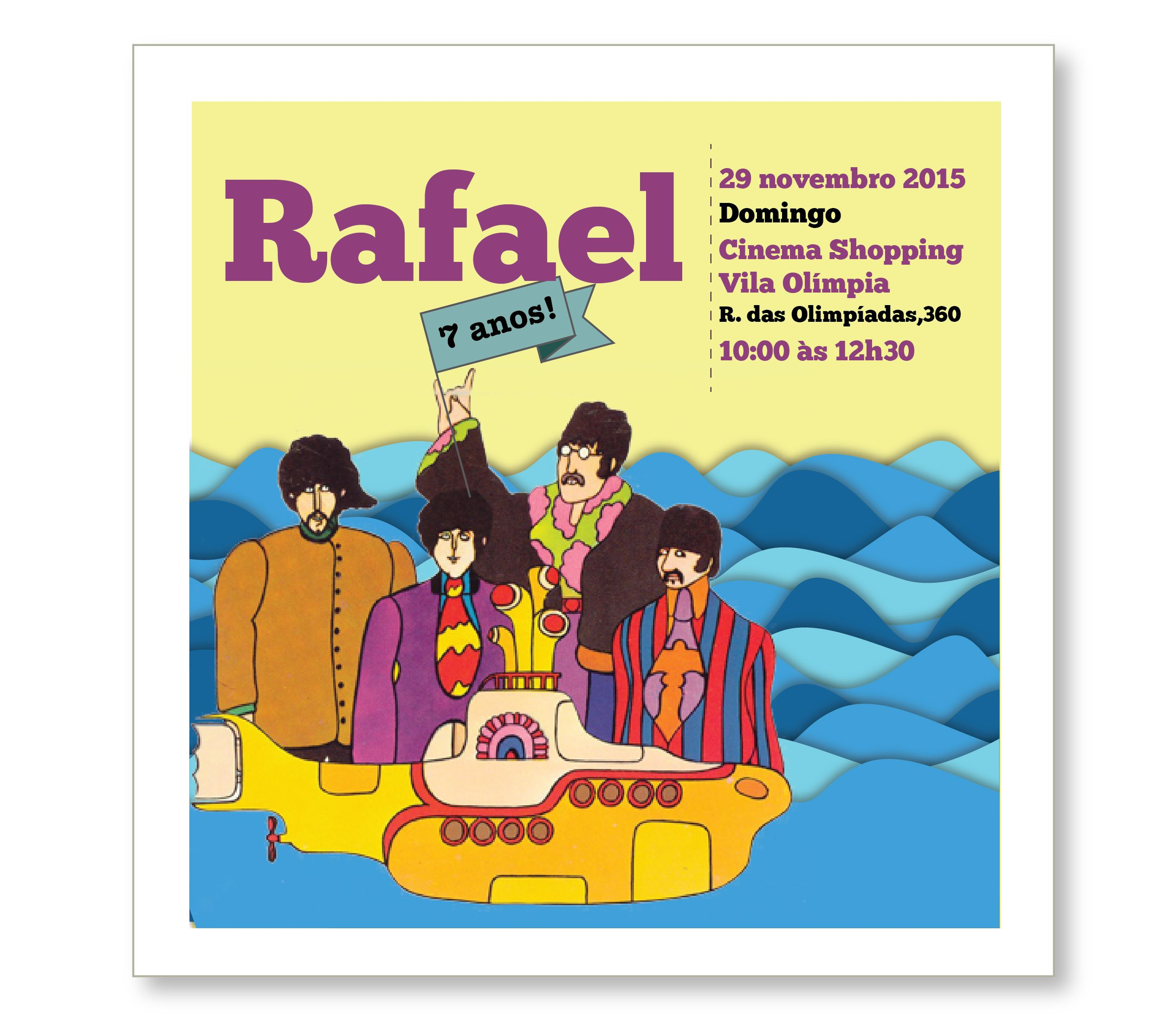 Convite Beatles papelcomdesign papelariapersonalizada – Beatles Party Invitations