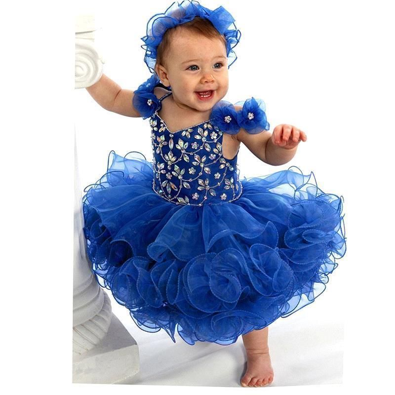 The most gorgeous adorable !!! special event dress  ever  .. little girl blue vintage Free Shipping  ..