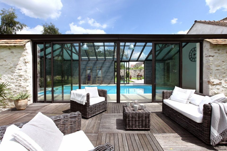 Veranda piscine piscine pinterest veranda piscine for Veranda pour piscine