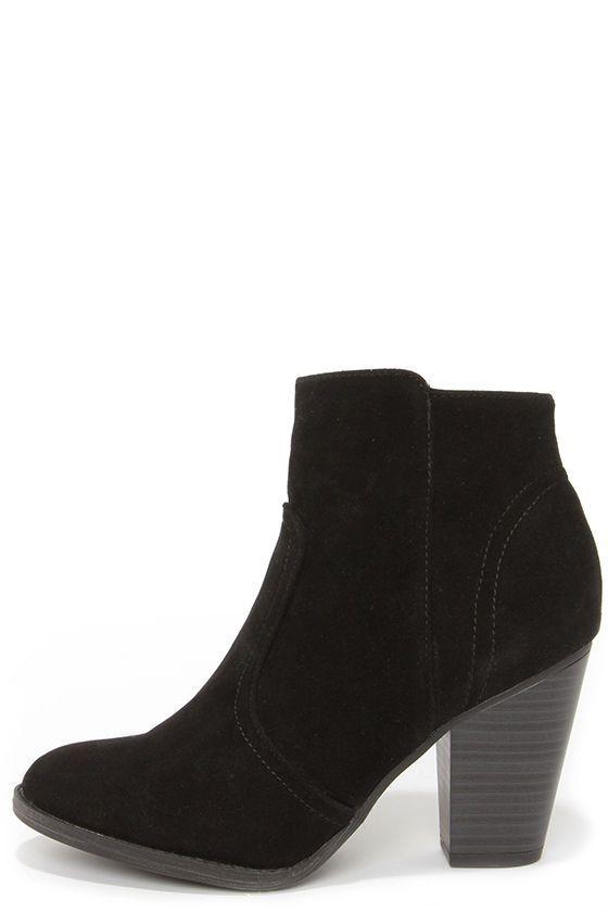 Heydays Black Suede Ankle Boots  076d1f8d9d