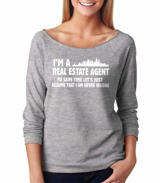 Real Estate Agent Raglan 3 4 Sleeve Top Funny Gift For Birthday