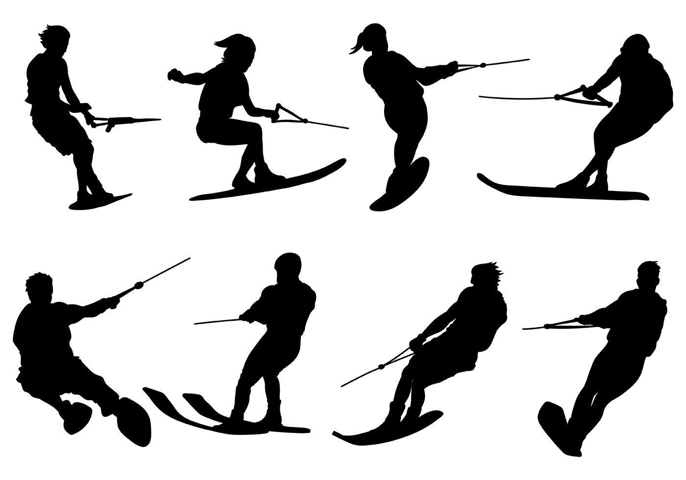 Free Water Skiing Icons Vector Jpg 1400 980 Slalom Water Skiing Water Skiing Slalom Skiing