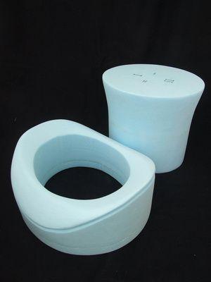 c5ef94f6e03 Hand made hat blocks in styrofoam polystyrene