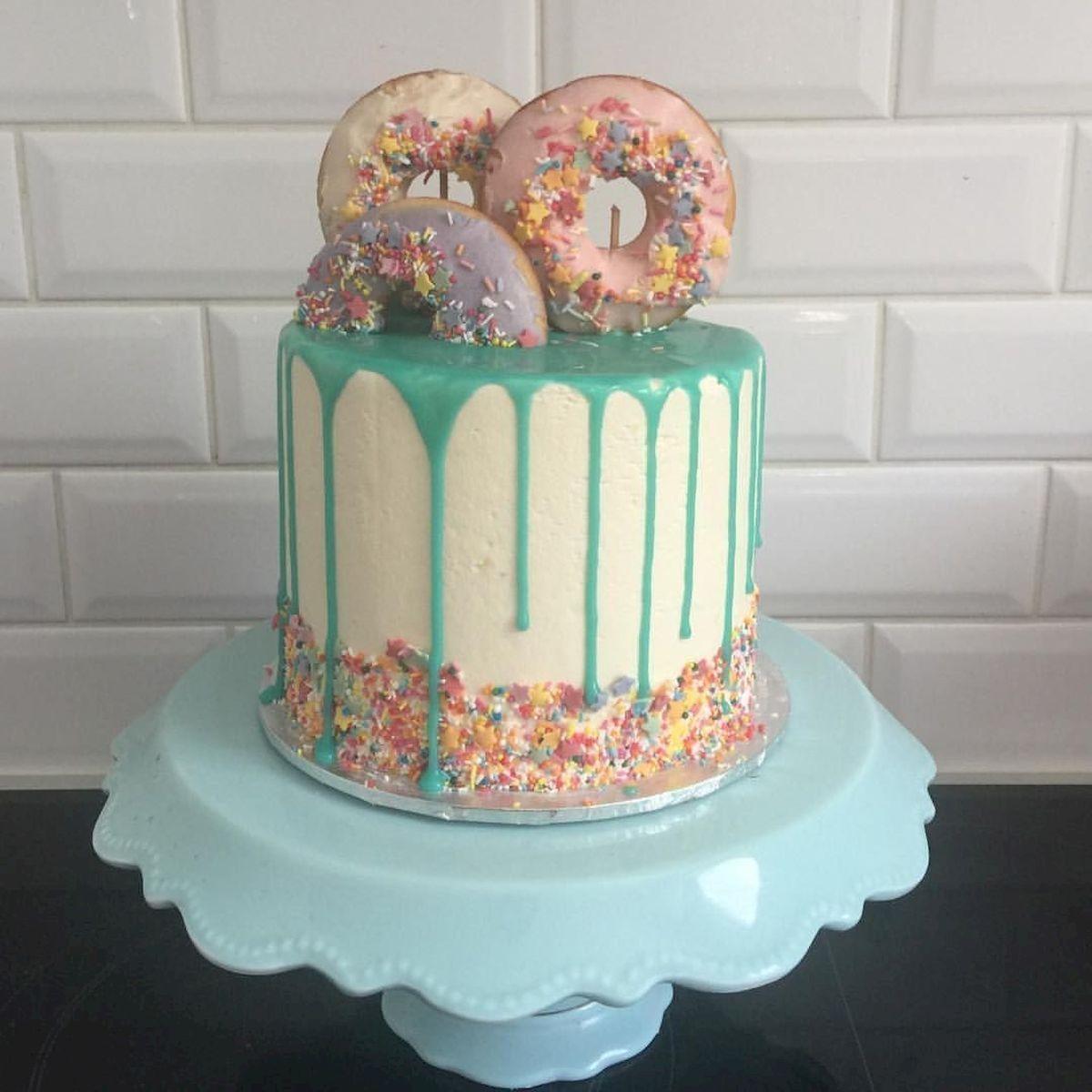Cute Kids Birthday Cakes Dengan Gambar Donat Ide