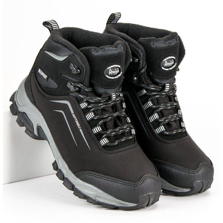American Club Damskie Zimowe Buty American Czarne Hiking Boots Boots Shoes