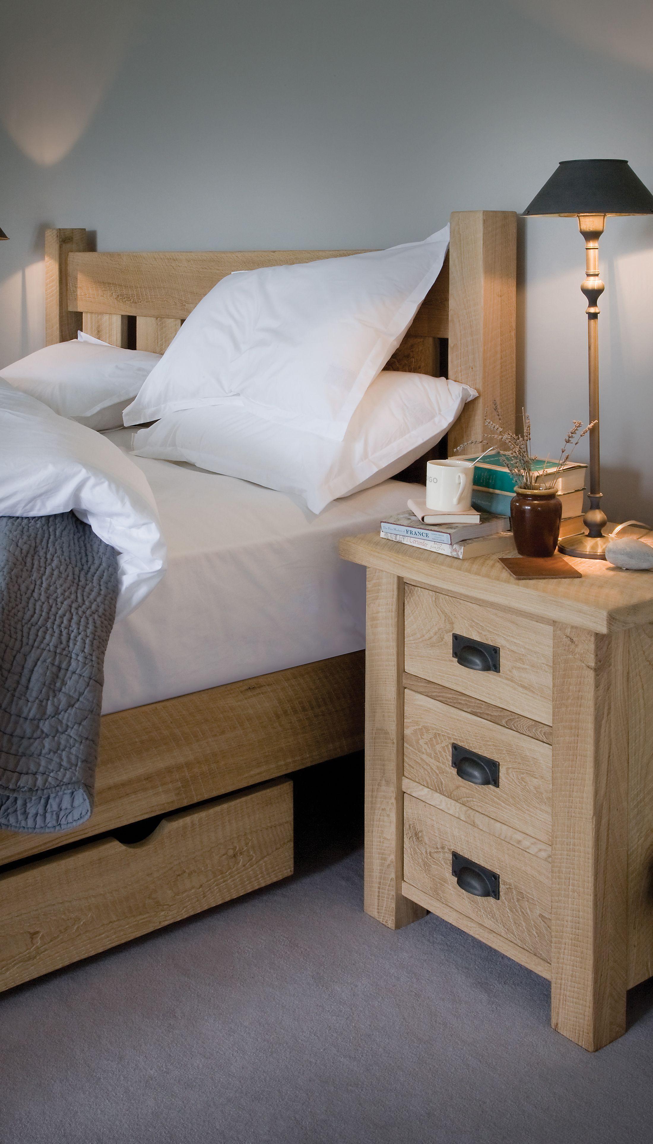 Oak Bedside Indigo Furniture Bedroom Duckegg Oak Oak Bedroom Furniture Oak Beds Oak Bedroom