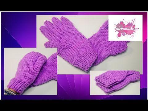 Cours de tricot 15 - tricoter des moufles - YouTube | Apprendre à ...