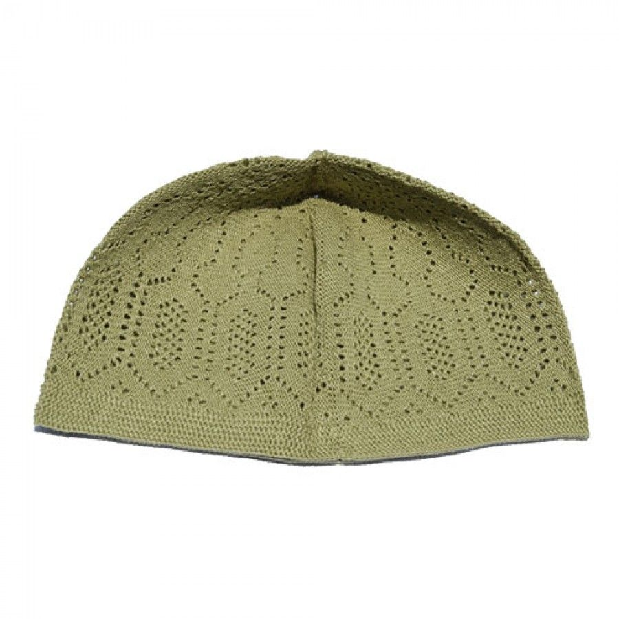 Buy LIGHT GREEN MACHINE KNIT OPEN-WORK TURKISH KUFI / TOPI / TAKKE ...