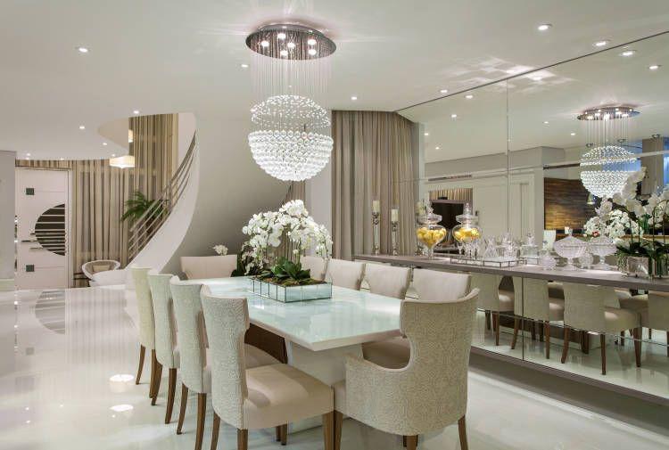 Sala De Estar Clin ~  de decoração salas integradas com mesa branca salas de jantar sala