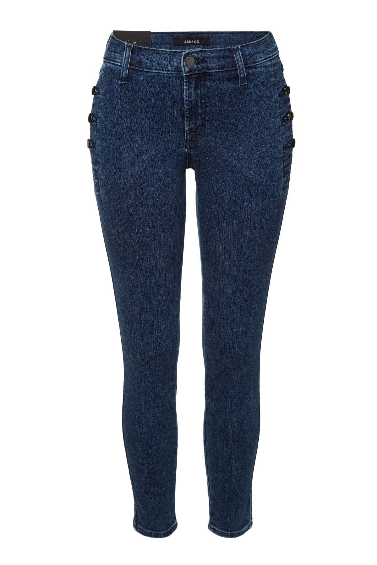 J brand green velvet dress  J Brand  Mid Rise Skinny Jeans with Buttoned Pockets on STYLEBOP