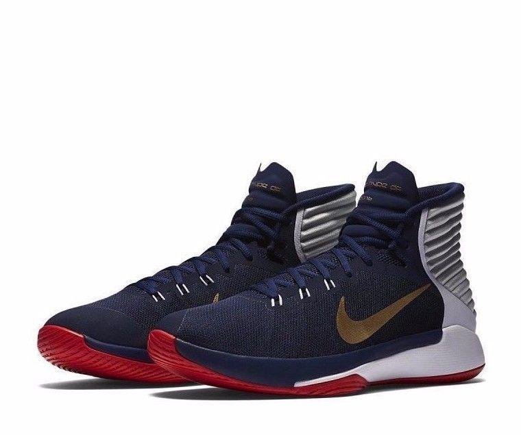 super popular e660e 66f63 Nike Prime Hype DF 2016 Mens Basketball Shoes 11 Navy Gold ...