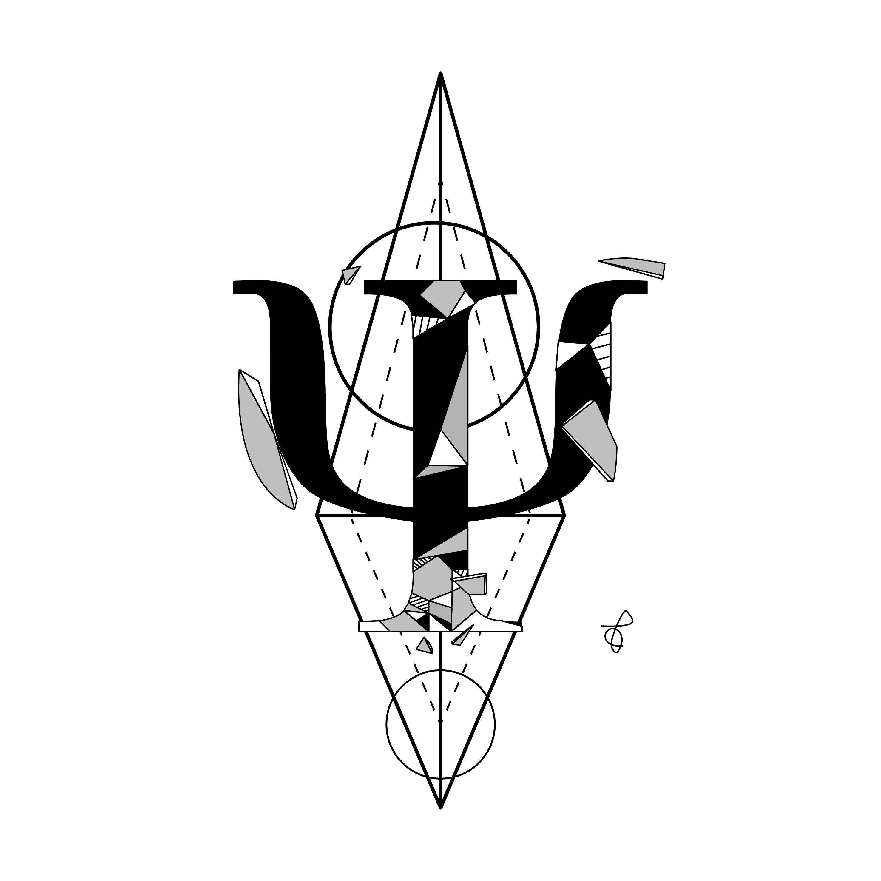 Tattoo Geometric Psychology symbol Simbolo Tatto Psicologia Geométrico  por TC Pereira