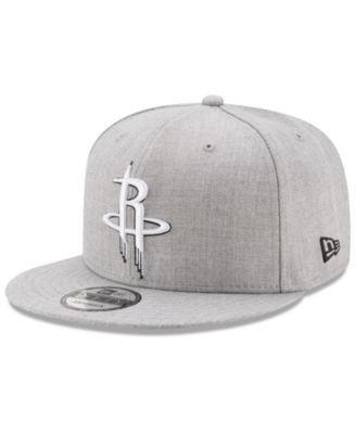 newest 5c333 eec02 New Era Boys  Houston Rockets The Heather 9FIFTY Snapback Cap - Gray  Adjustable