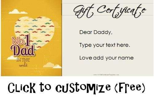 free fathers day gift certificates father s day pinterest