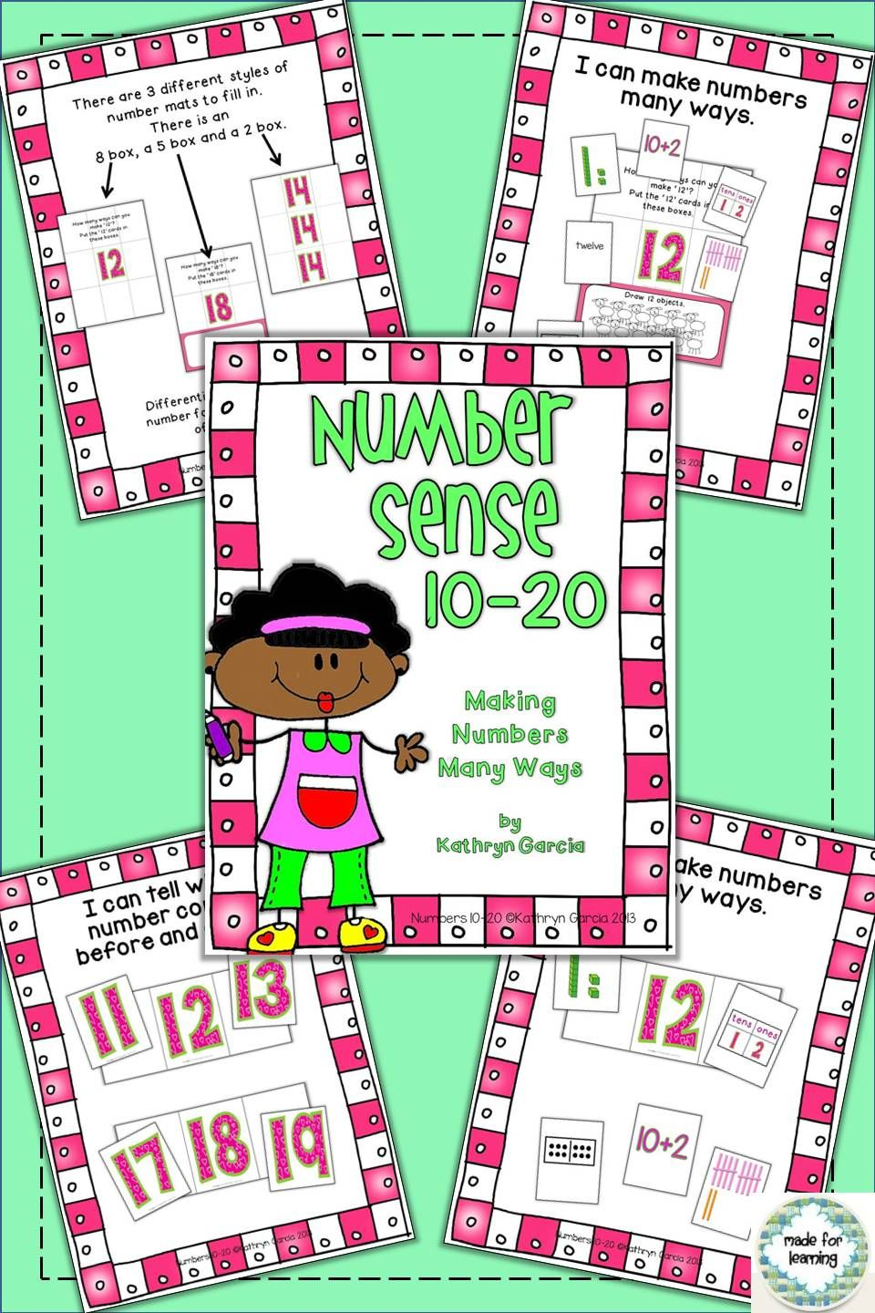 Number Sense 10-20: Making Numbers Many Ways | Activities, Maths and ...