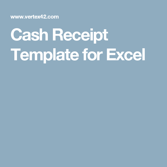 Cash Receipt Template For Excel  Rental    Receipt