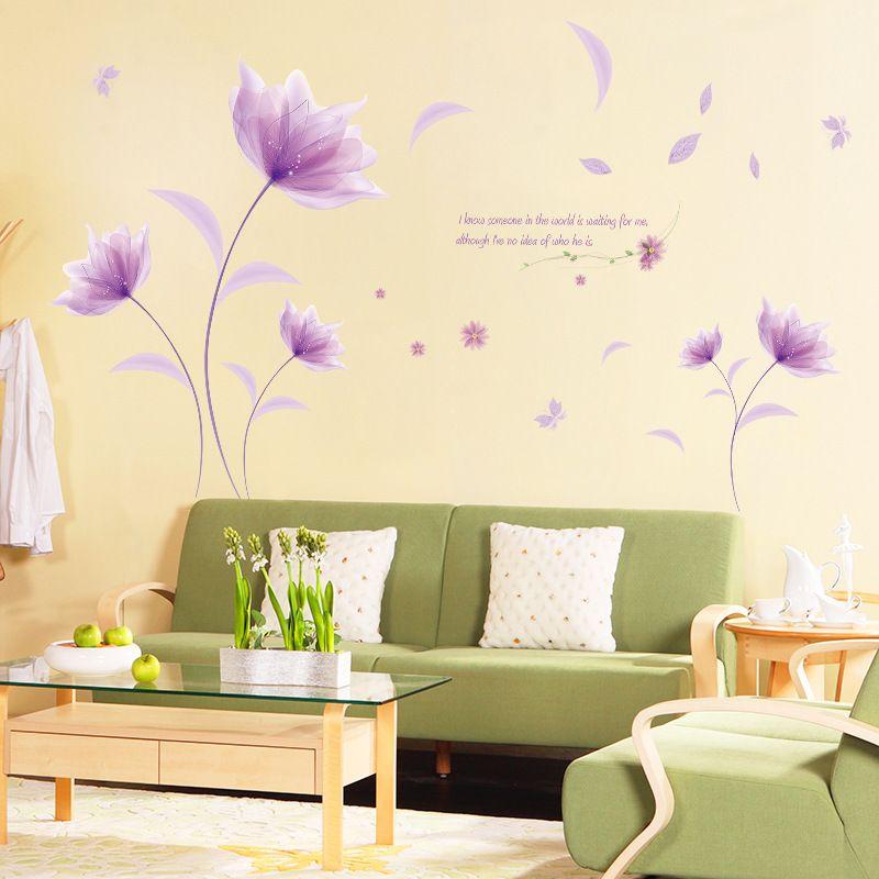 60cm*90cm Modern The wind in the flower purple romantic warm bedroom ...