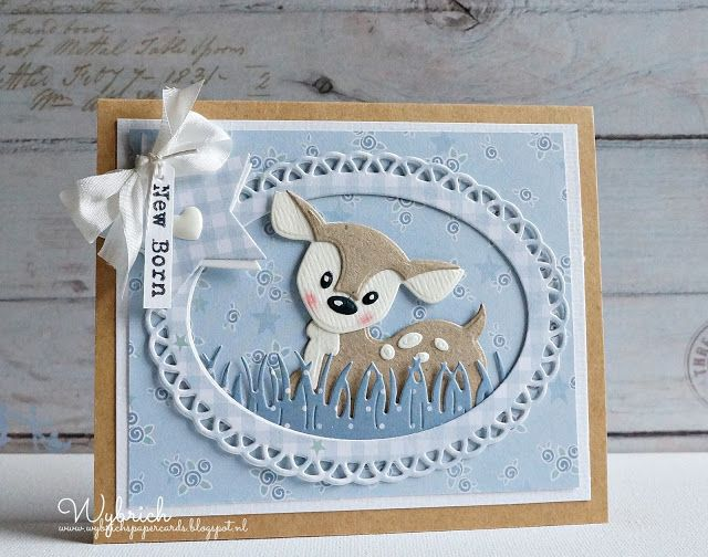 """""""New Born"""" Card  (Note:  I believe the fawn die is from """"Marianne Collectibles)  (Site:  card not found on main blog page)"""