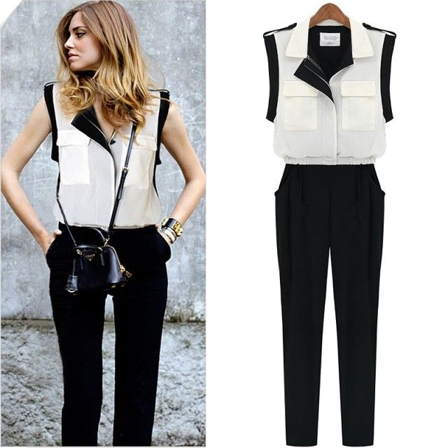 bigcatters.com black and white jumpsuits (01) #jumpsuitsrompers ...
