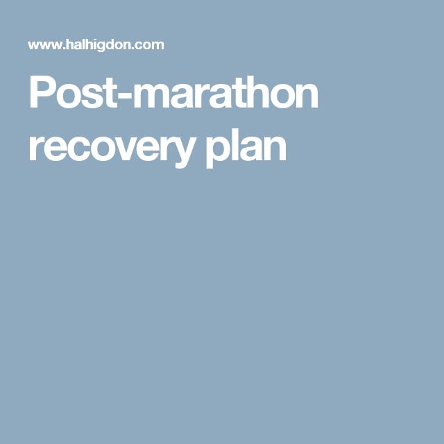 PostMarathon Recovery Plan  Healthy Inspirations