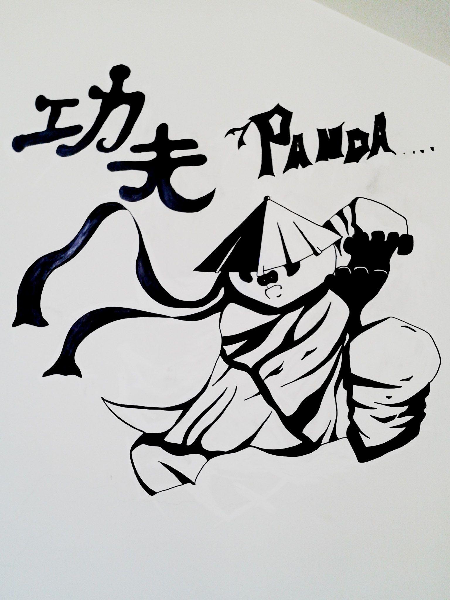 Kung Fu Panda Stencil