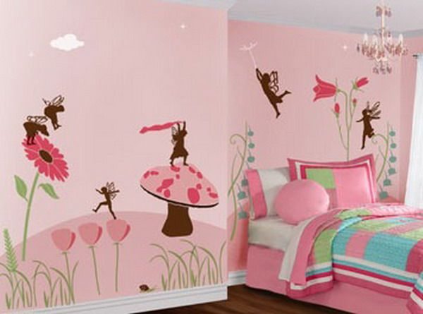 pink color painting wall mural for kids bedroom wallpaper murals - Wall Murals For Kids Bedrooms