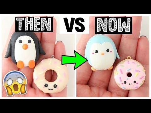REMAKING MY INSTAGRAM DIYS - THEN VS NOW! - YouTube Polymer Clay - how to make halloween decorations youtube
