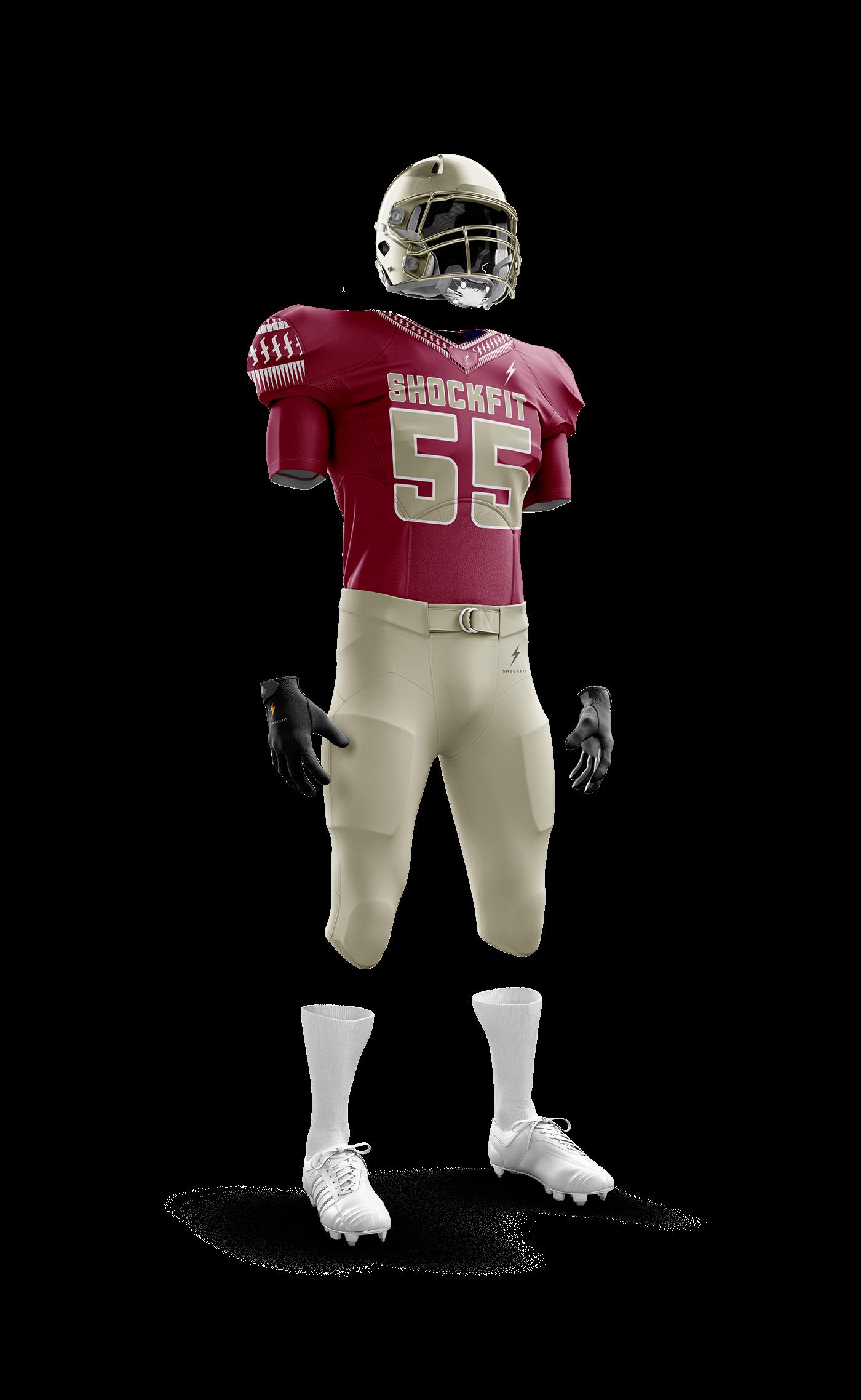 americanfootball football sports shockfit uniform 3d
