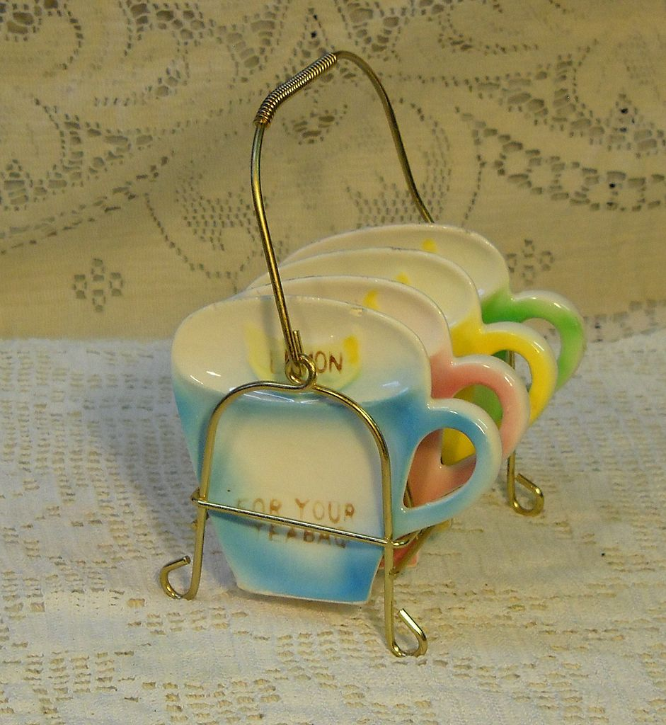 how to display tea bags on tea cart Vintage Figural Tea