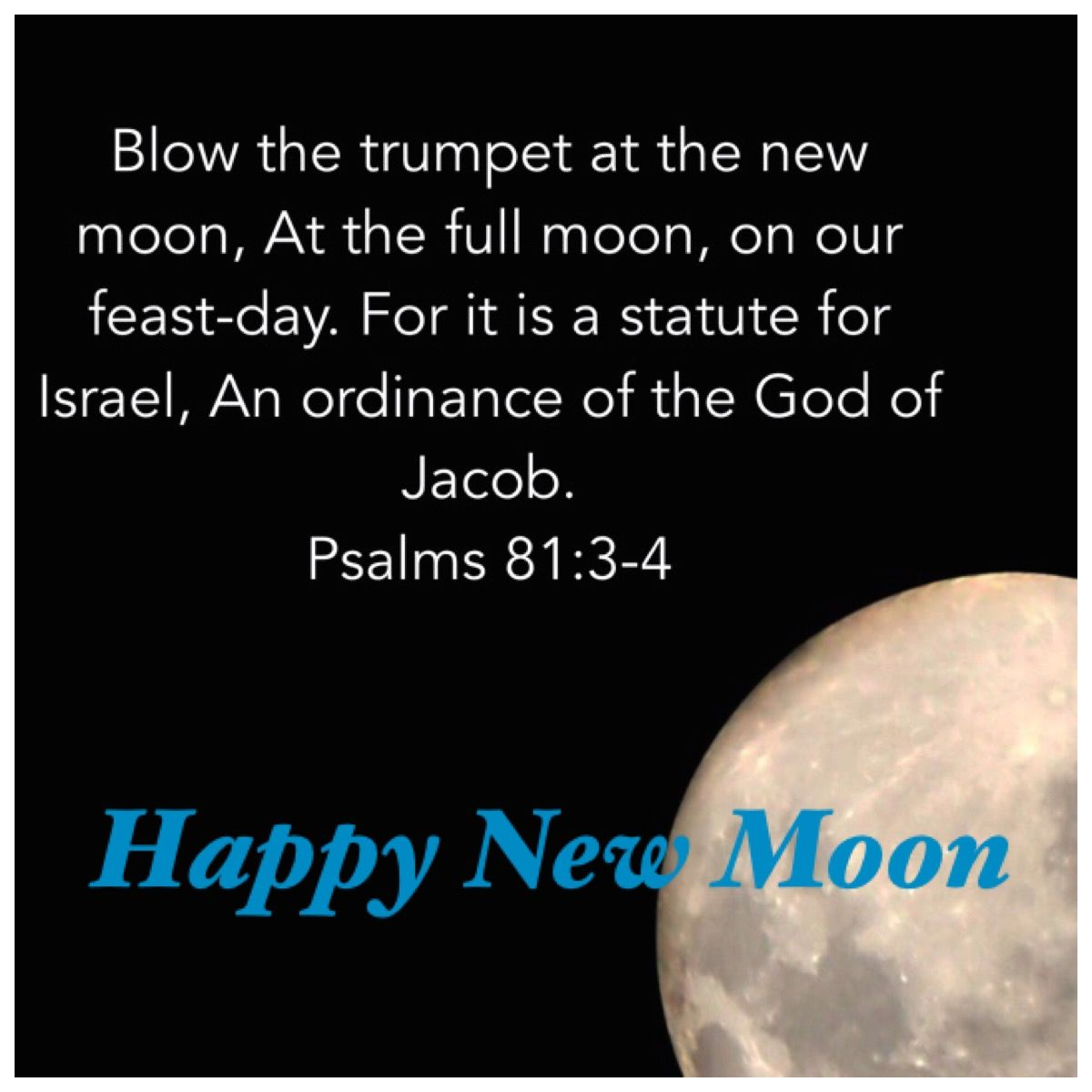 Happy New Moon Israel Rosh Chodesh Psalms New Moon