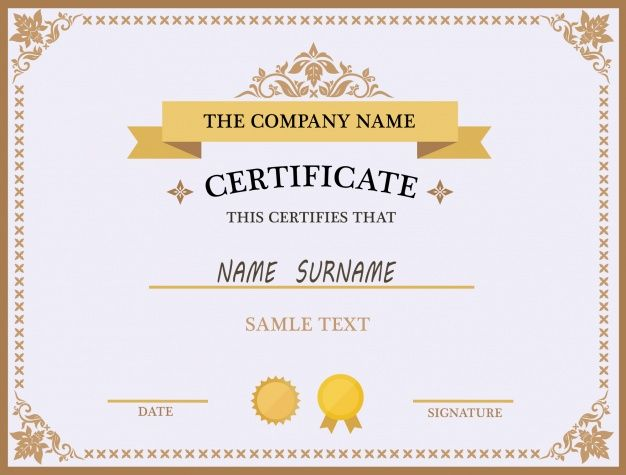 Certificate Template Design Template Blank Red Medical Certificate