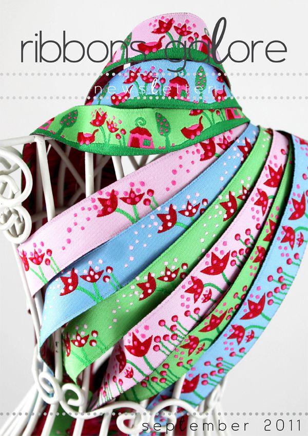 Ribbons Galore newsletter cover for September 2011.