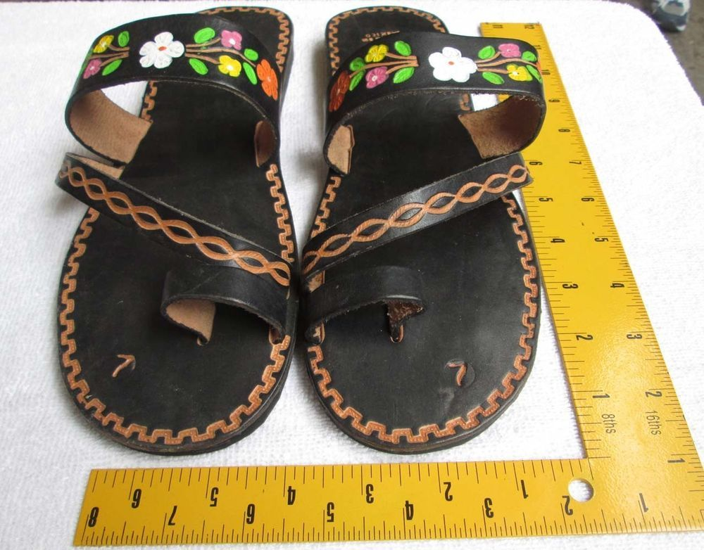 Women Handmade Mexican Leather Sandal Shoes Sandals