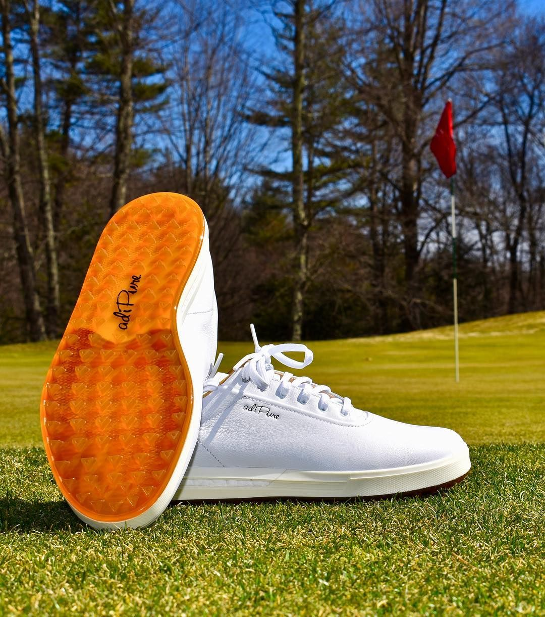 the latest 028f5 ccef1 One of the cleanest looking onoff course golf shoes Ive seenthe Adidas  Adipure SP shoes in Cloud White