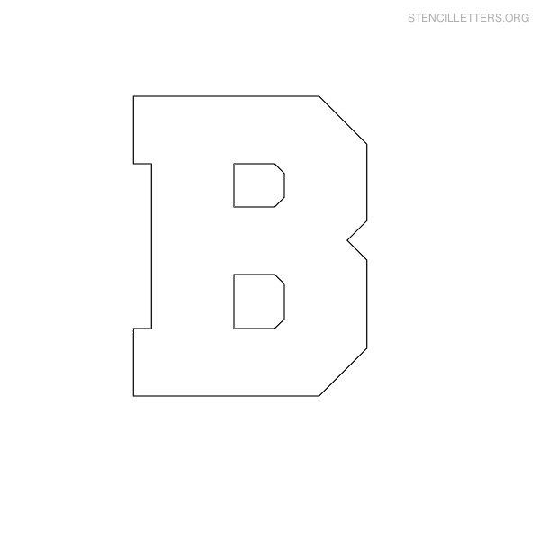 Free Printable Block Letter Stencils  Stencil Letters B Printable