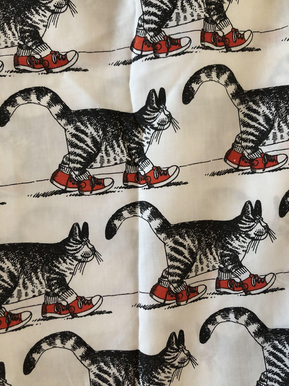 B Kliban Cat Print Sheets for reuse full size set cotton
