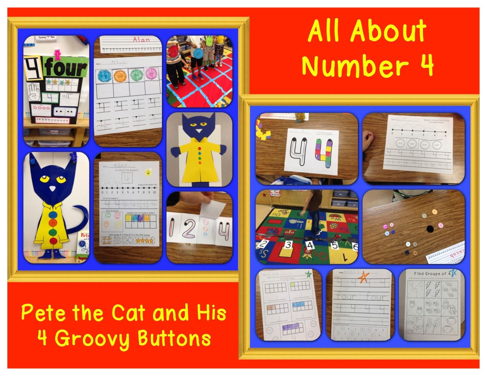 Pete The Cat And His 4 Groovy Buttons Activities Number
