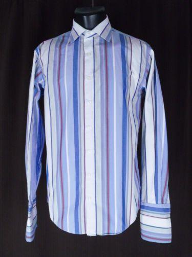 Thomas Pink Dress Shirt French Cuffs Spread Collar