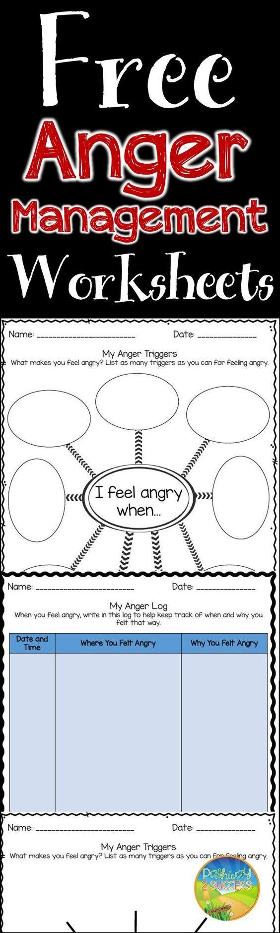 Worksheets Anger Management Worksheets free worksheets for anger management skills rt pinterest skills