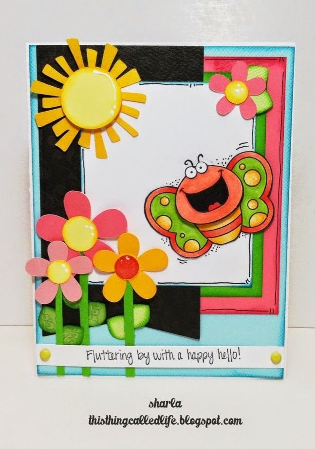 Your Next Stamp card/project by Sharla (June Guest Designer) using Happy Hello Butterfly