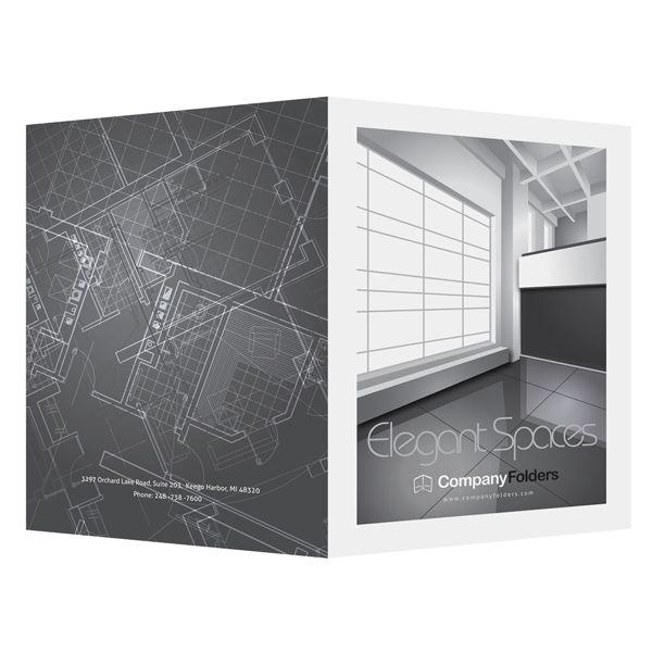free ai template] elegant spaces architect presentation folder, Presentation templates