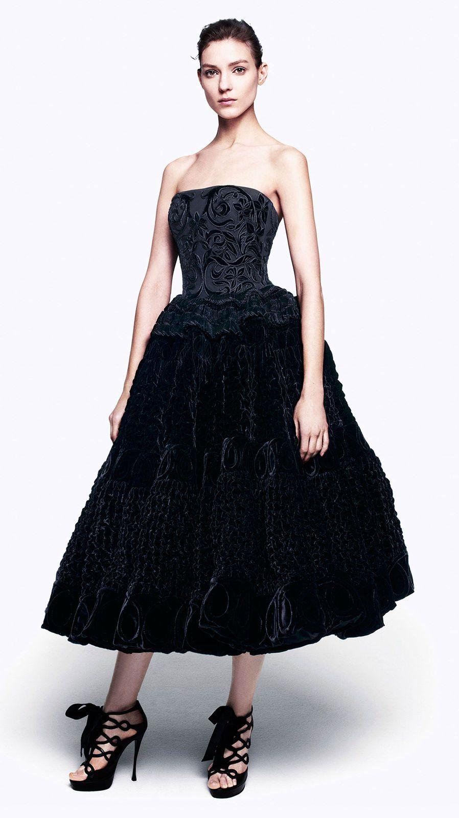Anya strapless velvet gown by alexander mcqueen velvet pinterest
