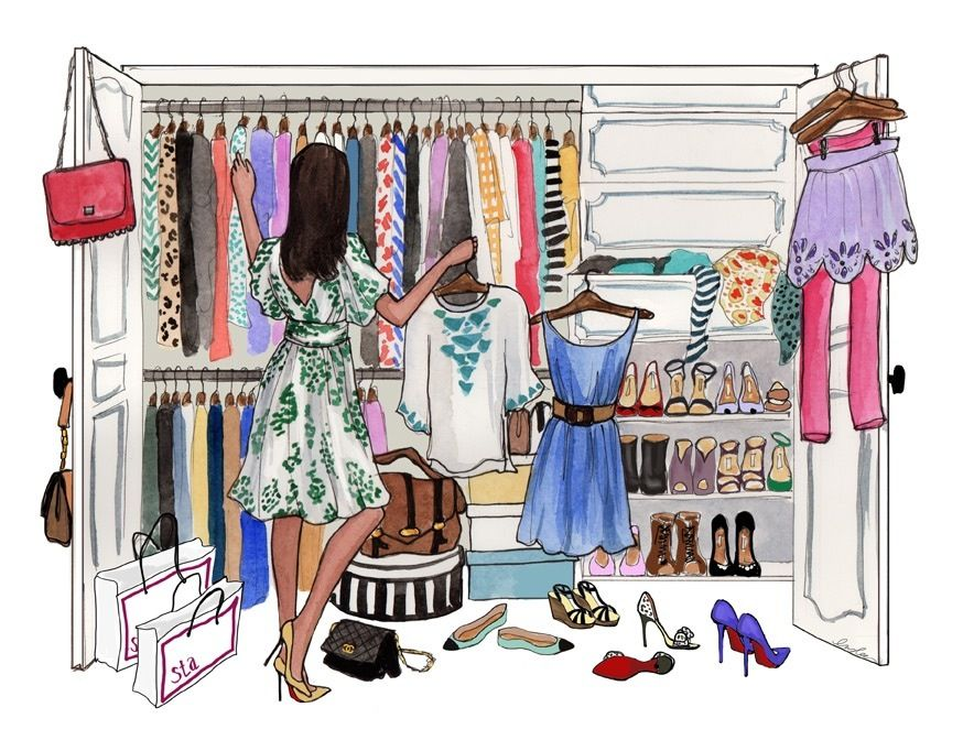 Closet drawing ILLUSTRATIONS & More Pinterest