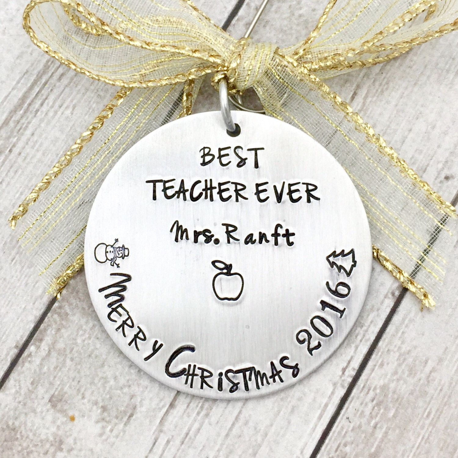 Teacher Christmas Gift - Teacher Ornament Personalized - Christmas ...
