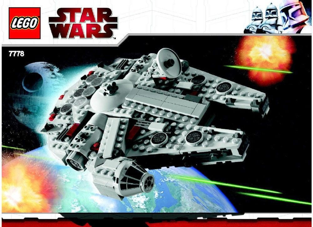 Star Wars Midi Scale Millennium Falcon Lego 7778 Lego 2