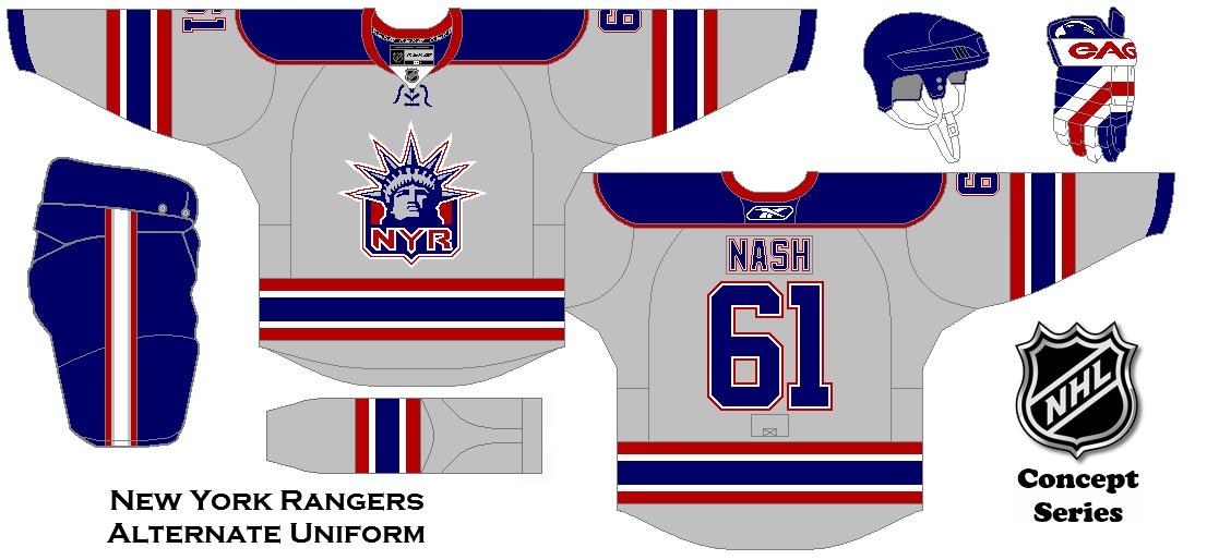 best loved af83b 1a3d0 NHL Concept Series. New York Rangers Alternate Uniform ...
