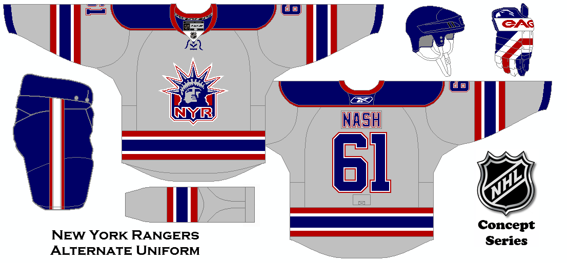 best loved 39180 d66c2 NHL Concept Series. New York Rangers Alternate Uniform ...
