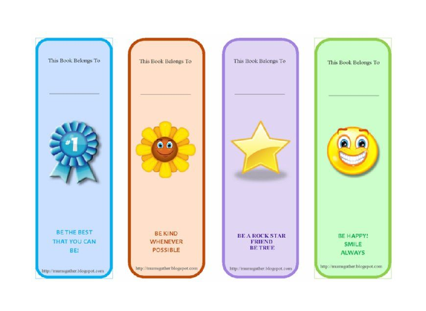Bookmark Template   Vbs    Bookmark Template